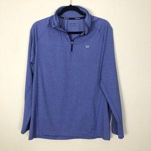 untuckit loxton quarter zip pullover purple blue